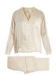Morpho Luna Ines Sandwashed Silk Pyjama Set Cream