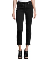 Paige Hoxton Lace Up Ankle Peg Jeans Hayes