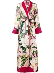 F.R.S For Restless Sleepers Floral Kimono Dress Red