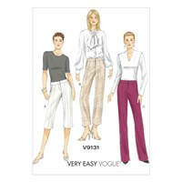 Vogue Women's Tapered Shorts And Trousers Sewing Pattern 9131