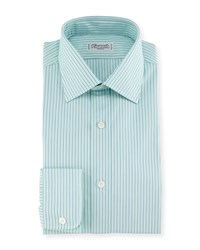 Charvet Shadow Striped Dress Shirt Mint Green