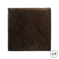 Amara Cowhide Coasters Set Of 4 Natural