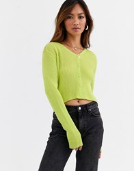 Daisy Street Fitted Cardigan Green