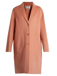 Acne Studios Avalon Double Wool Blend Coat Light Pink