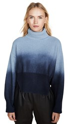 Cedric Charlier Blue Long Sleeve Cropped Turtleneck