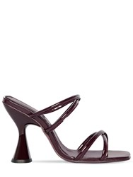 Dorateymur 100Mm Stainless Patent Leather Sandals Bordeaux