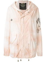 Mr And Mrs Italy Printed Parachute Parka Pink