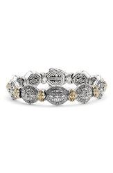Women's Konstantino 'Silver And Gold Classics' Link Bracelet Silver Gold