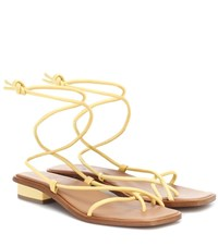 Loq Ara Leather Sandals Yellow