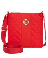 Tommy Hilfiger Isla Quilted Crossbody Racing Red