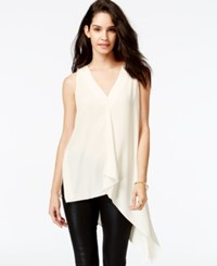 Rachel Rachel Roy Sleeveless Asymmetrical Top Winter White
