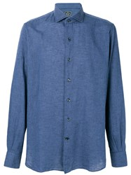 Orian Plain Button Down Shirt Blue