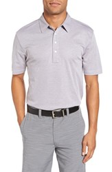 Travis Mathew Men's The Ten Year Polo Heather Grey
