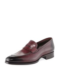 Tom Ford Leather Penny Loafer Cherry