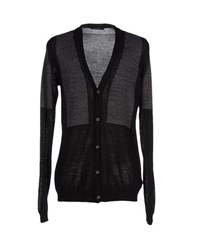 Black Flower Knitwear Cardigans Men