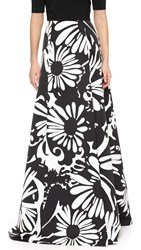 Kaufman Franco Print Maxi Skirt Jet Optic