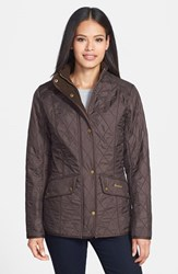 Women's Barbour 'Cavalry' Quilted Jacket Dark Brown