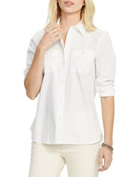 Lauren Ralph Lauren Cotton Long Sleeve Shirt White