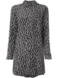 Equipment Leopard Print Tunic Black