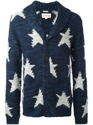 Denim And Supply Ralph Lauren Star Intarsia Cardigan Blue