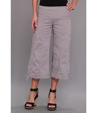 Xcvi Indria Wide Leg Crop Earl Grey Women's Casual Pants Gray