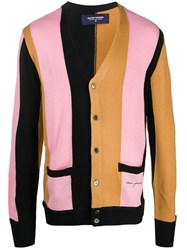 Noon Goons Colour Block Fitted Cardigan Pink