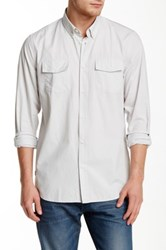 Wesc Ive Long Sleeve Relaxed Fit Shirt Gray