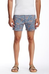 Parke And Ronen Paisley Print Short Blue