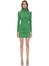 Alex Perry Techno Crepe Mini Dress Green