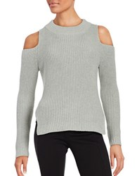 French Connection Crewneck Cold Shoulder Sweater Light Grey