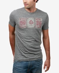 Lucky Brand Men's Graphic T Shirt Grey