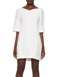 French Connection Dominica Cluster Dress Summer White