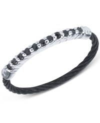 Charriol Women's Black Spinel Two Tone Pvd Stainless Steel Cable Ring