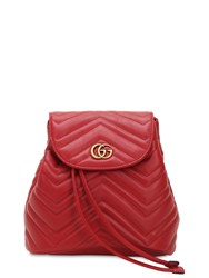 Gucci Mini Gg Marmont Leather Backpack Red