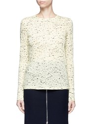 Proenza Schouler Paint Splatter Print Long Sleeve T Shirt Yellow