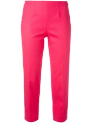 Piazza Sempione Audrey Cropped Trousers Pink Purple