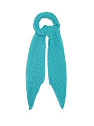 Issey Miyake Pleats Please Madame T Scarf Green
