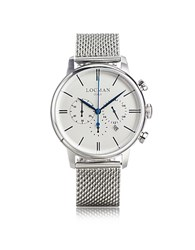 Locman 1960 Silver Stainless Steel Men's Chronograph Watch