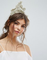 Ribbon And Asher Race Day Lace Headband Cream