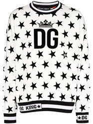 Dolce And Gabbana Star Print Logo Sweatshirt 60