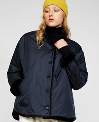 Aspesi Reversible Fake Fur Nylon Jacket Navy Blue