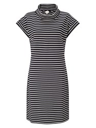 East Bardot Stripe Jersey Dress Blue