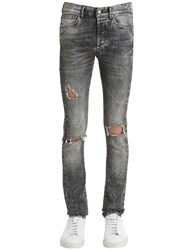 Htc Hollywood Trading Company 17Cm Slim Destroyed Stone Washed Jeans