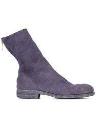 Guidi Rear Zip Boots Pink And Purple