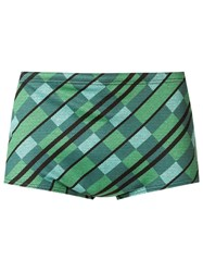 Amir Slama Printed Trunks Green