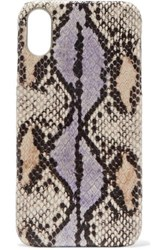 The Case Factory Snake Effect Leather Iphone Xr Lilac