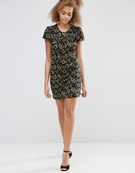 Pussycat London Print Shift Dress Navy