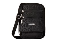 Baggallini Journey Crossbody Black Cheetah Emboss Cross Body Handbags