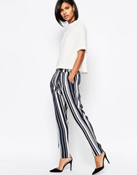 Vero Moda Vero Mod Stripe Tailored Peg Pant Multi Stripe