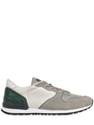 Tod's Mesh And Suede Running Sneakers